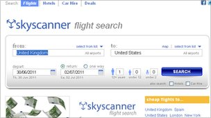Skyscanner website