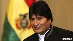 Bolivian President Evo Morales in La Paz