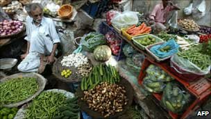 Vegetable seller in India