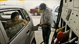 Petrol pump in India