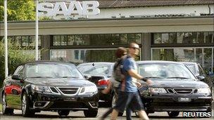 A Saab dealership in Zurich