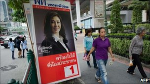 Yinglukc Shinawatra election poster June 2011 Thailand