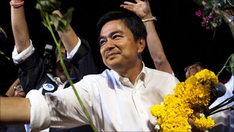 Thai Prime Minister and leader of the Democrat party Abhisit Vejjajiva