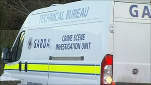 Irish police van