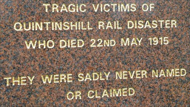 Rail disaster memorial