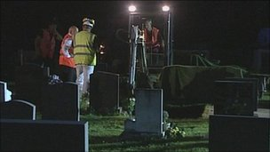 The exhumation of Christopher Rochester's body in 2011