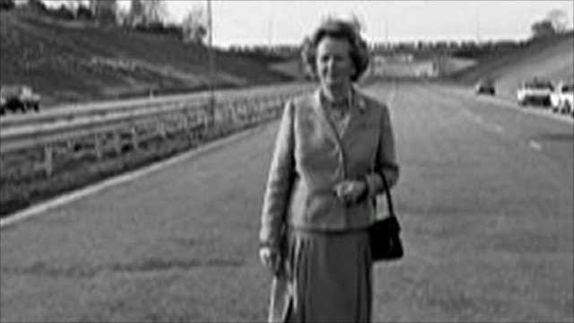 Margaret Thatcher and handbag