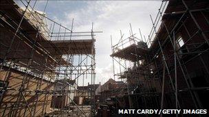 Construction at housing estate