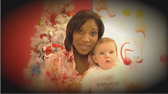 Denise Lewis with one of the babies born on 20/12/04