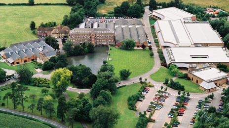 Aerial view of Renishaw at New Mill