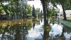 Flooded streets in Minot