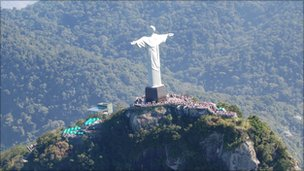 Statue of Christ overlooking Rio