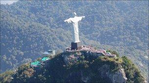 Statue of Christ overlooking Rio