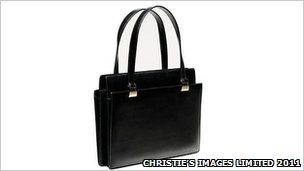 Handbag owned by Margaret Thatcher. Picture supplied by Christie&#039;s Images Limited