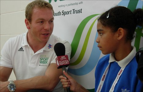 School Reporter interviews Chris hoy