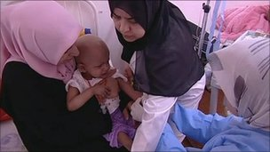 Children's cancer ward at Benghazi hospital