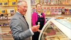 Prince Charles eating an ice-cream