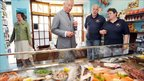 Prince Charles at Gill's Plaice fish shop