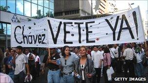 Anti-Chavez demo caracas