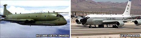 Nimrod R1 and RC-135 Rivet-Joint