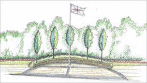 Design for the memorial garden