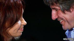 Cristina Fernandez de Kirchner and Amado Boudou