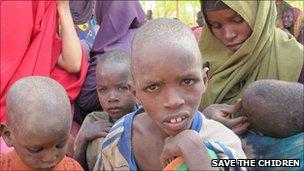 Fatuma and her children in the Dadaab refugee camp in Kenya