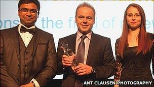 Doctor Ravi Hadimani, Professor Elias Siores, PhD student Derman Vatansever