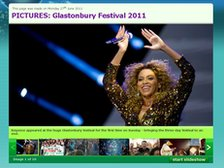 Screengrab of Newsround Glastonbury 2011 gallery