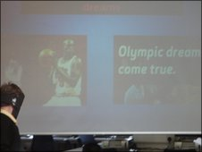 One presentation was all about Luol Deng, the Team GB basketball star.