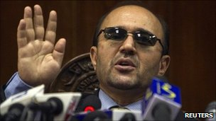 Former governor of Afghan central bank Abdul Qadir Fitrat (Sept 2010)