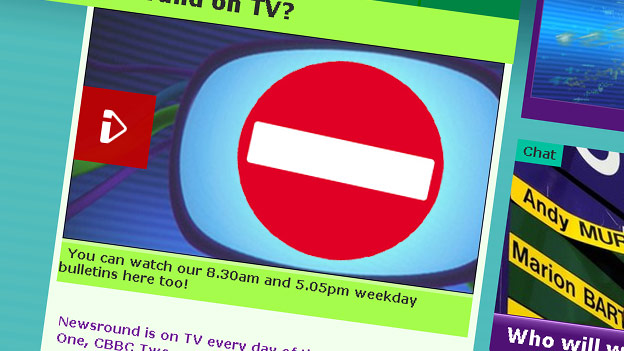 A no entry sign on a Newsround page