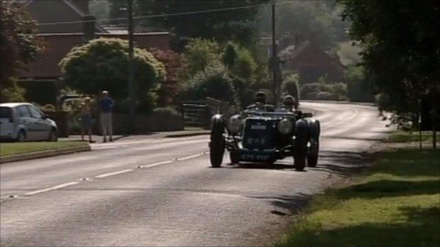 Colin Wilson driving his replica 1920s racing car
