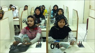 Trainee domestic workers in Jakarta
