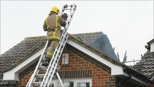 Firefighter in Maidenbower, Crawley