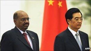 Sudan's Omar al-Bashir and Chinese President Hu Jintao, Great Hall of the People, Beijing, 29 June 2011