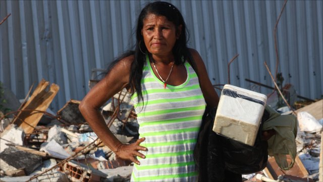 Berenice Maria das Neves evicted from her home