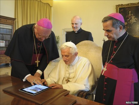 Pope Benedict launches the Vatican's new news and information portal, 28 June