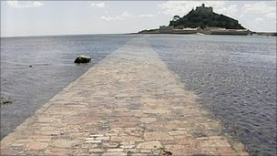 Causeway at St Michael's Mount