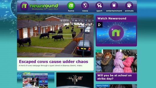 Newsround's new site