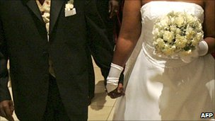 A Uganda couple at a wedding ceremony in Kampala - 2005