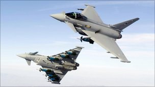 Typhoon fighters