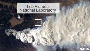 Aerial view of Los Alamos National Laboratory