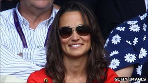 Pippa Middleton watching Roger Federer at Wimbledon