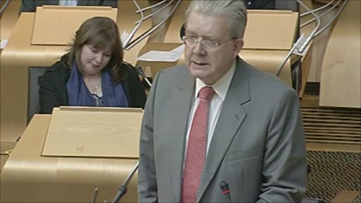 Education Secretary Michael Russell gives a statement on higher education to the Scottish Parliament