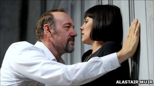 Kevin Spacey as Richard III and Annabel Scholey as Lady Anne