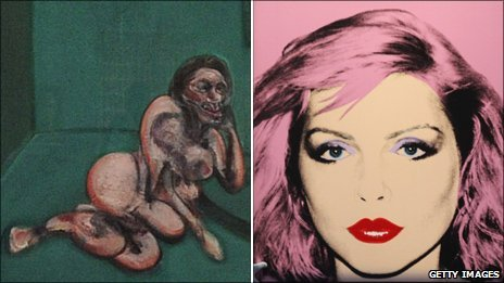 Francis Bacon&#039;s Crouching Nude and Andy Warhol&#039;s Debbie Harry