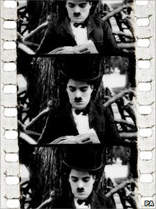 Frames from Charlie Chaplin in Zepped