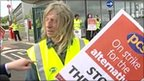 Man on a picket line