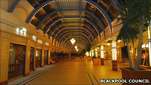 Interior of the Blackpool Winter Gardens